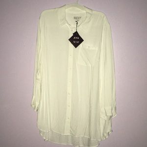 Blouse with long sleeve